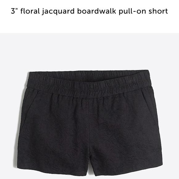 e0823a226d78d J. Crew Shorts   J Crew 3 Black Floral Boardwalk Size 4   Poshmark